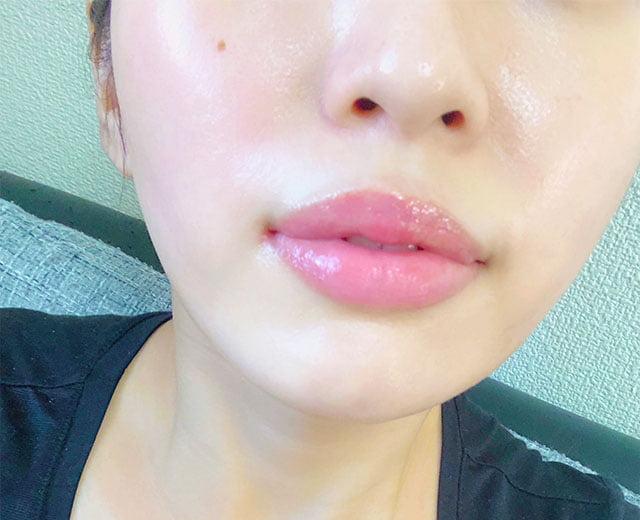 唇がこんなきれいに